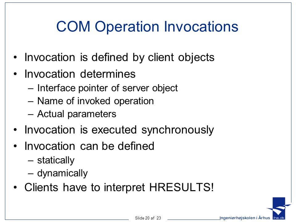 COM Operation Invocations