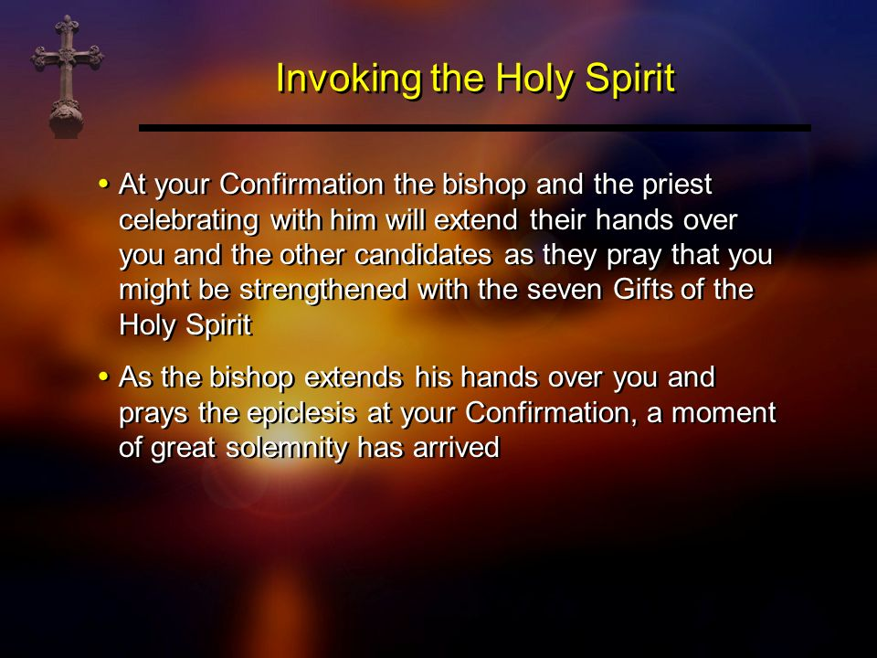 Invoking the Holy Spirit
