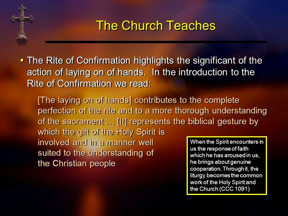 The Church Teaches