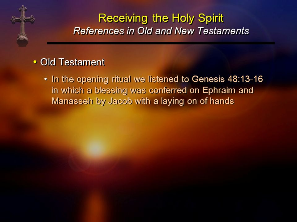 Receiving the Holy Spirit References in Old and New Testaments