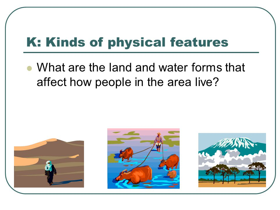 K: Kinds of physical features