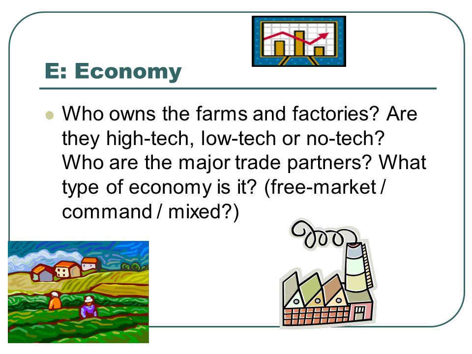 E: Economy