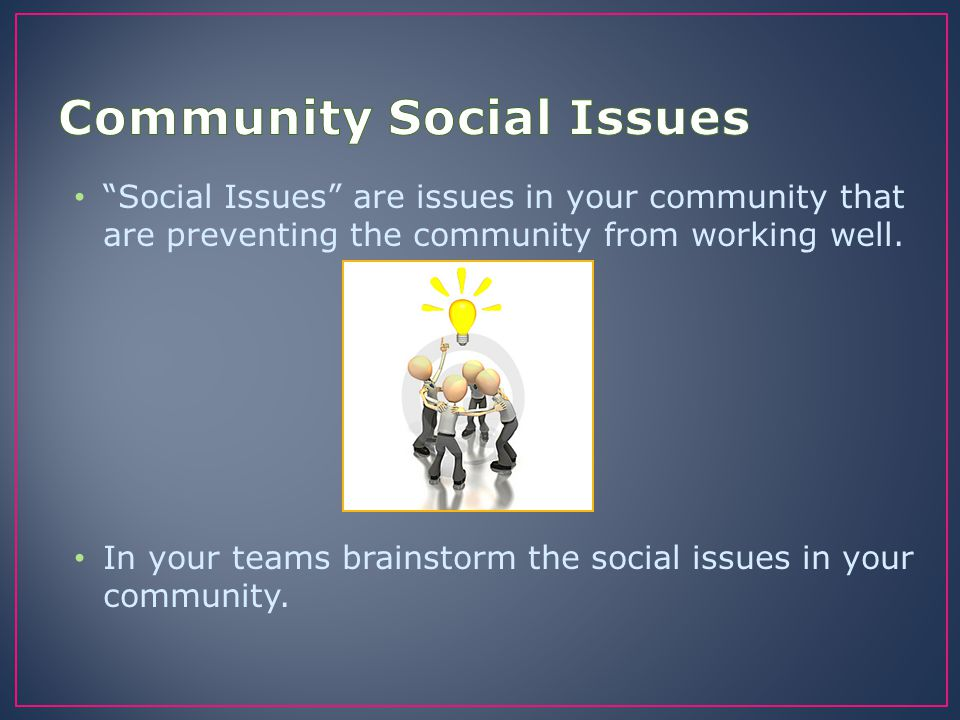 Community Social Issues