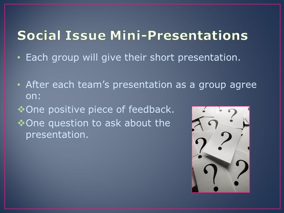 Social Issue Mini-Presentations
