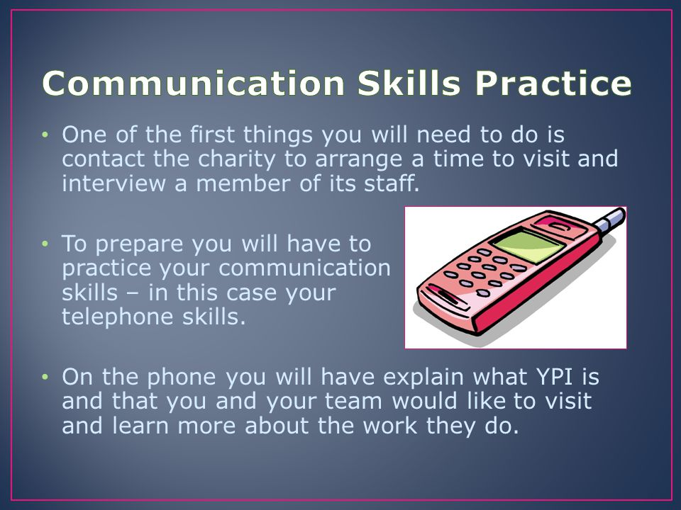 Communication Skills Practice