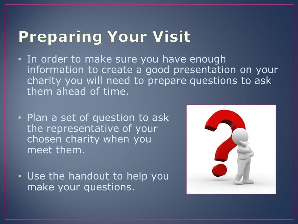 Preparing Your Visit