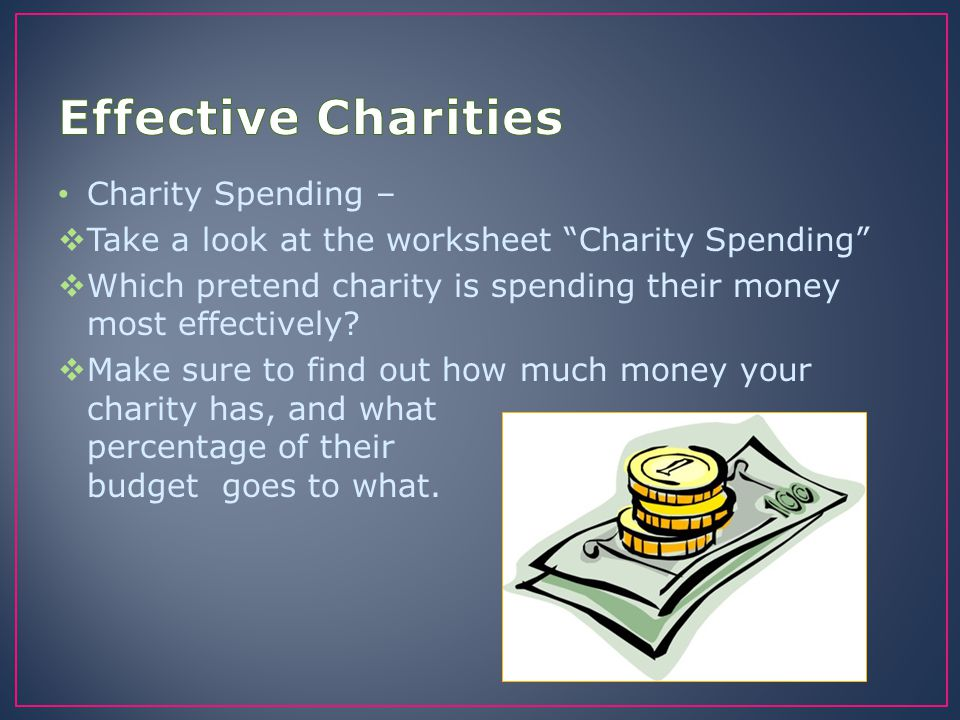 Effective Charities Charity Spending –
