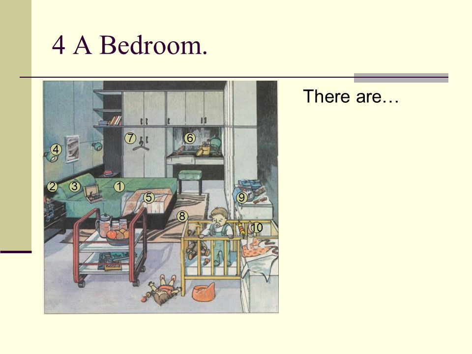 4 A Bedroom. There are… 7 6 4 2 3 1 5 9 8 10