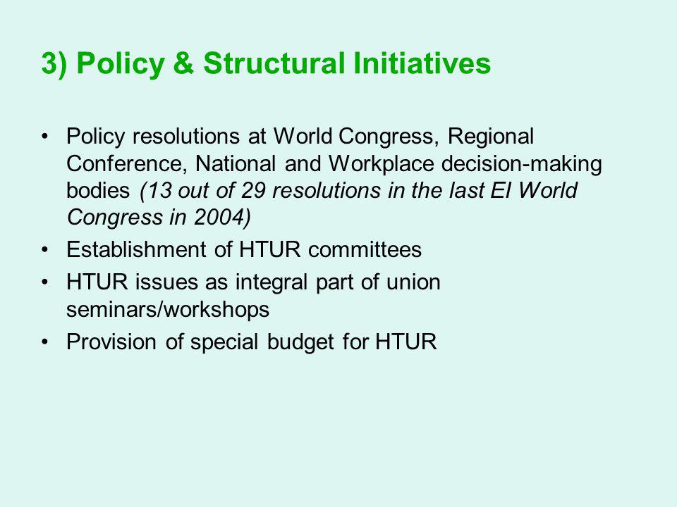 3) Policy & Structural Initiatives