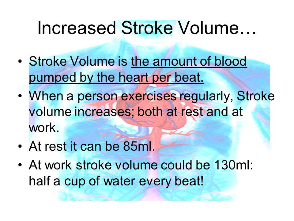 Increased Stroke Volume…