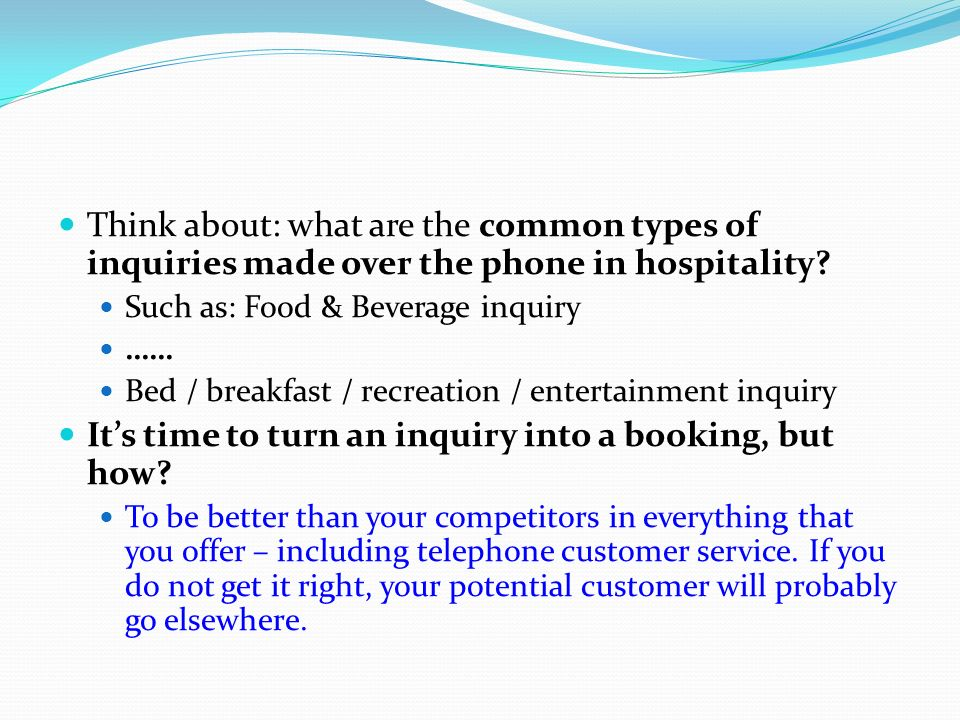 It's time to turn an inquiry into a booking, but how
