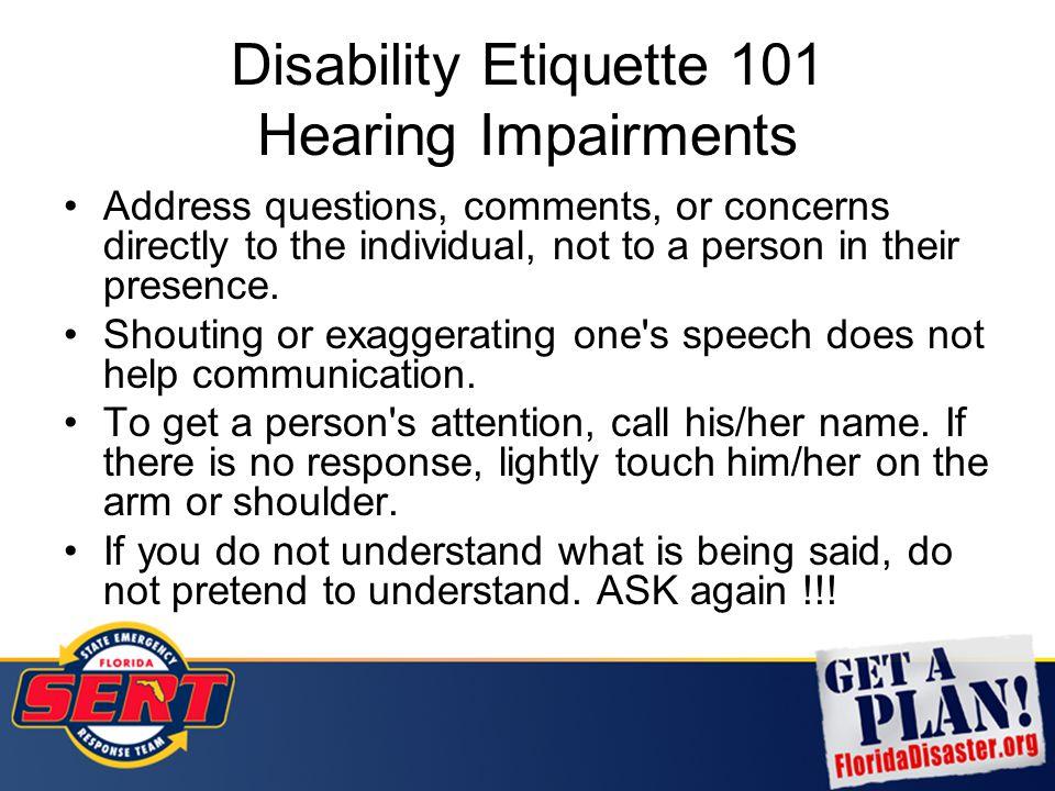 Disability Etiquette 101 Hearing Impairments