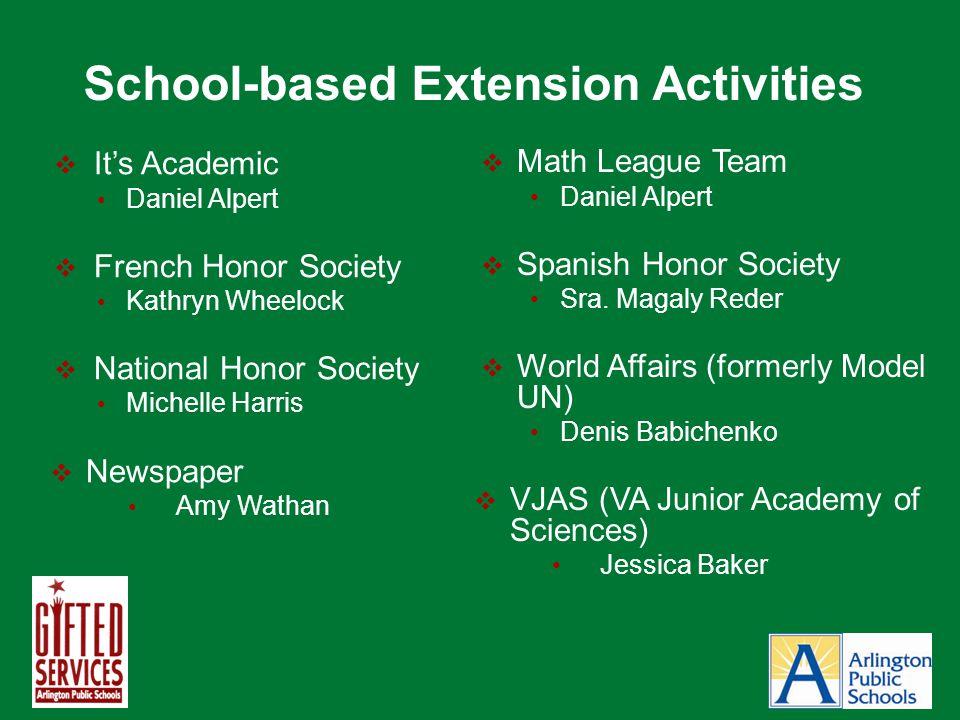 School-based Extension Activities