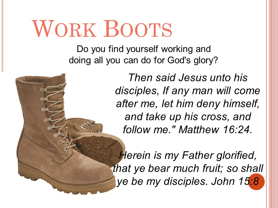 Do you find yourself working and doing all you can do for God s glory