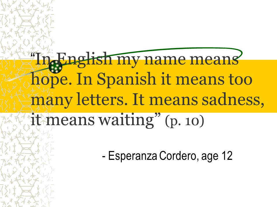 - Esperanza Cordero, age 12