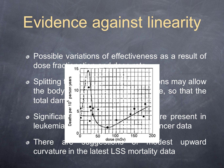 Evidence against linearity