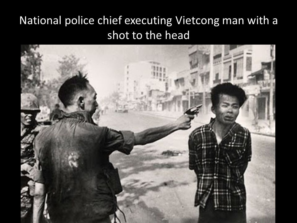 National police chief executing Vietcong man with a shot to the head