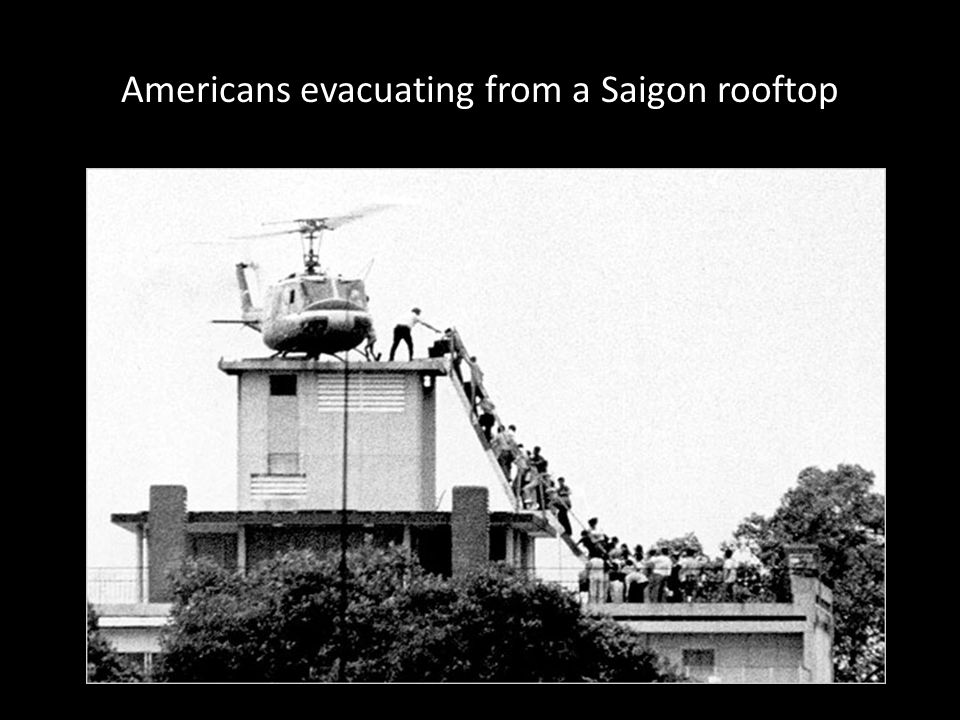 Americans evacuating from a Saigon rooftop