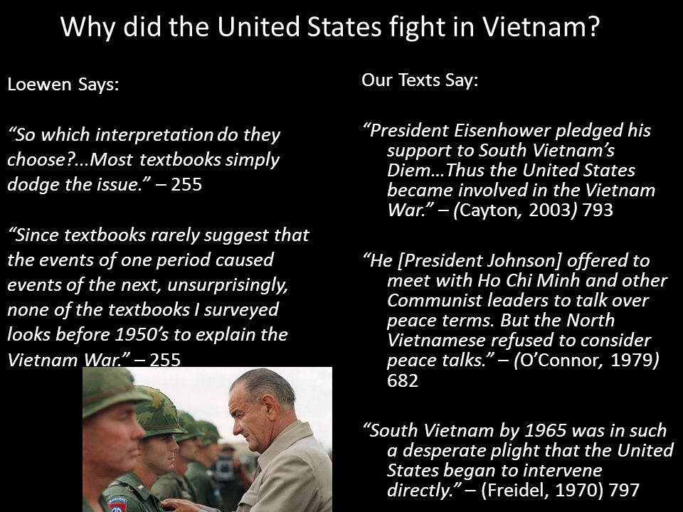 Why did the United States fight in Vietnam