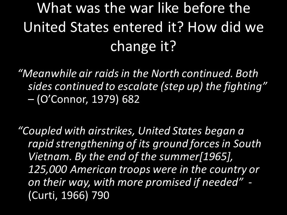 What was the war like before the United States entered it