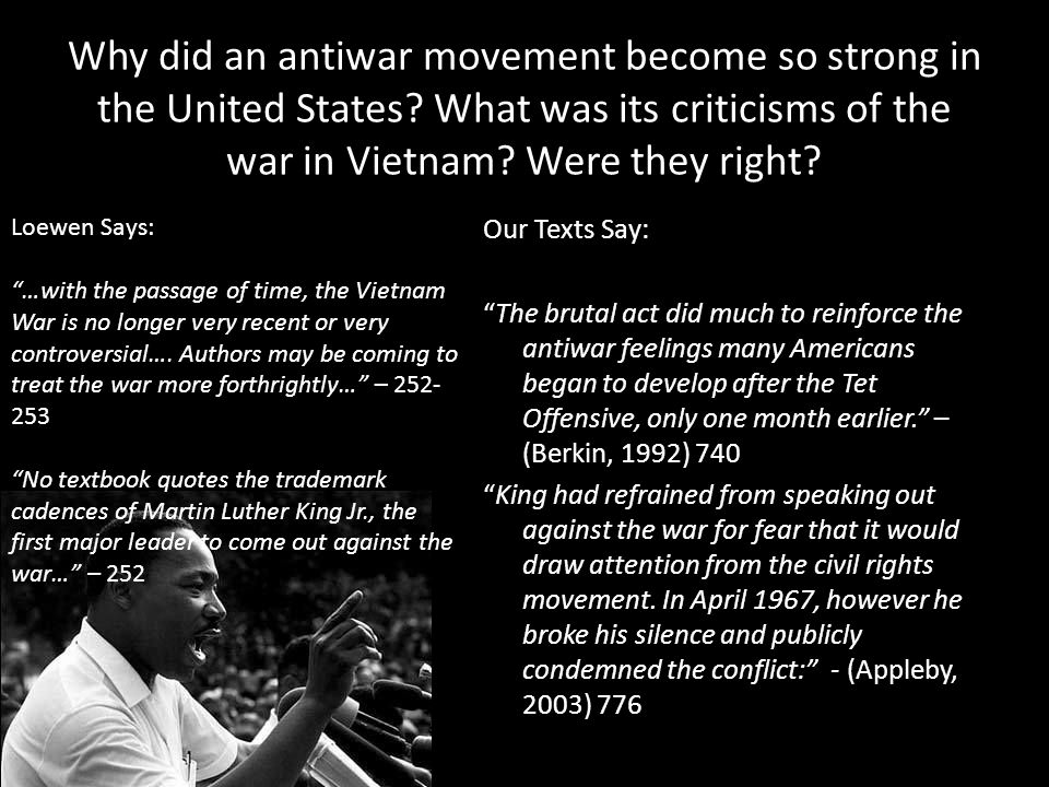 Why did an antiwar movement become so strong in the United States