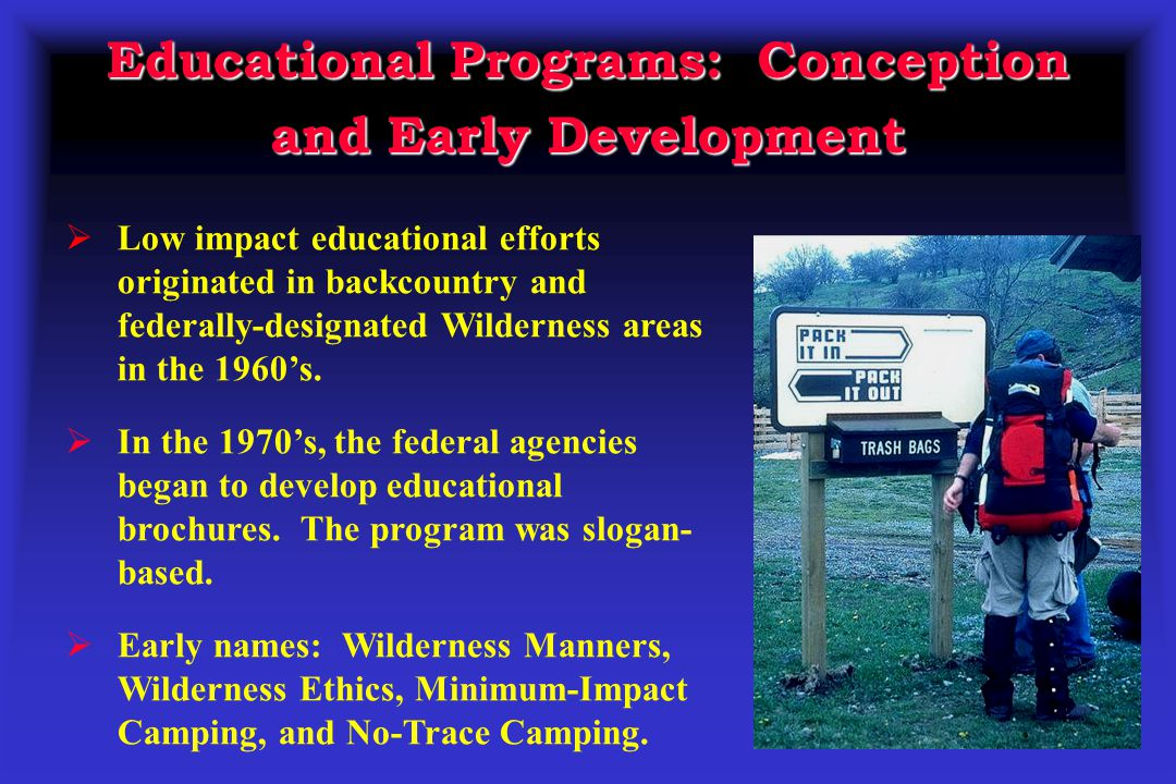 Educational Programs: Conception and Early Development
