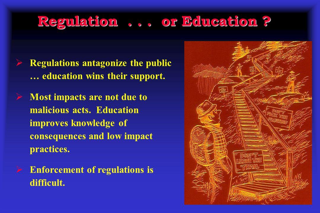 Regulation . . . or Education