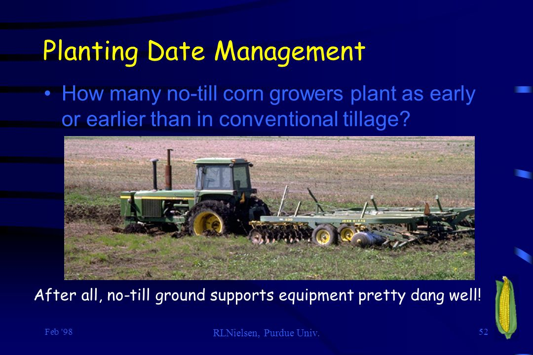 Planting Date Management