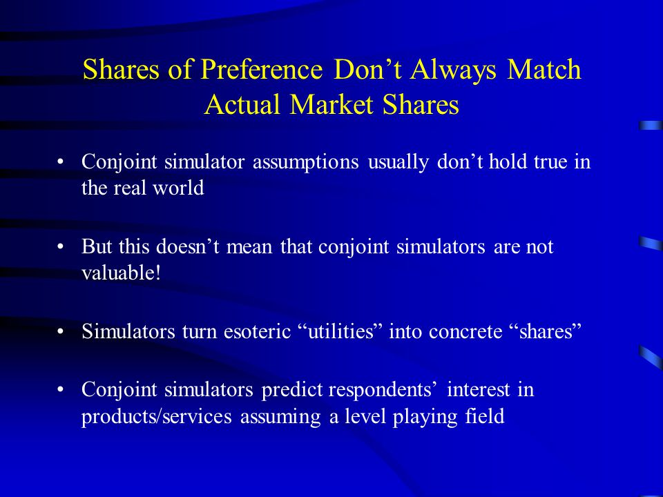Shares of Preference Don't Always Match Actual Market Shares