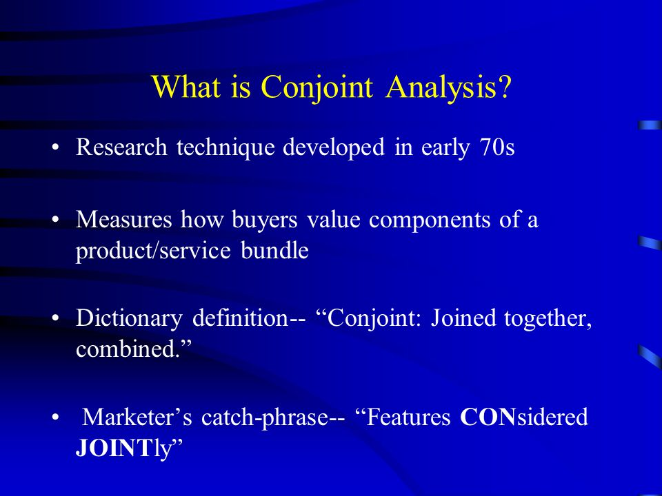 What is Conjoint Analysis