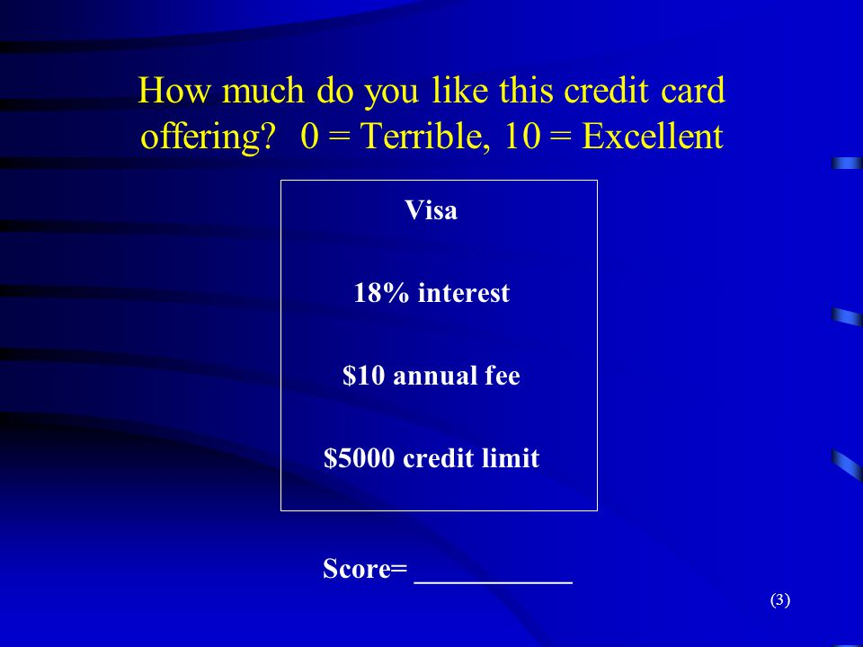 How much do you like this credit card offering