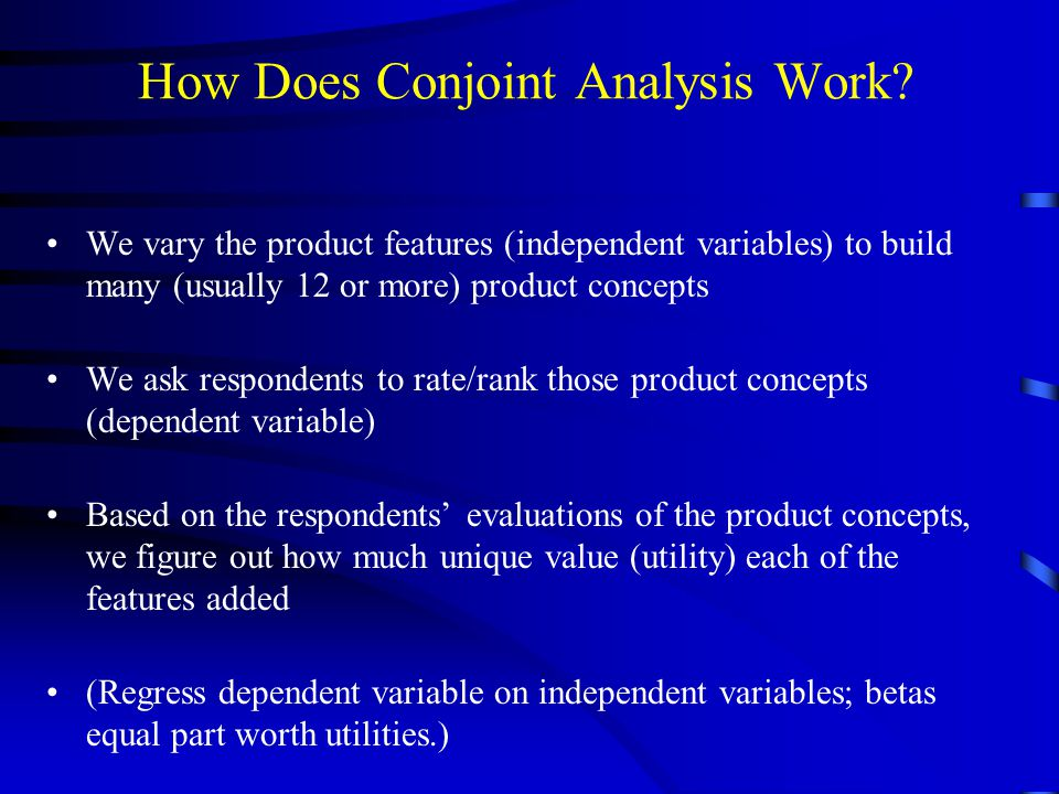 How Does Conjoint Analysis Work