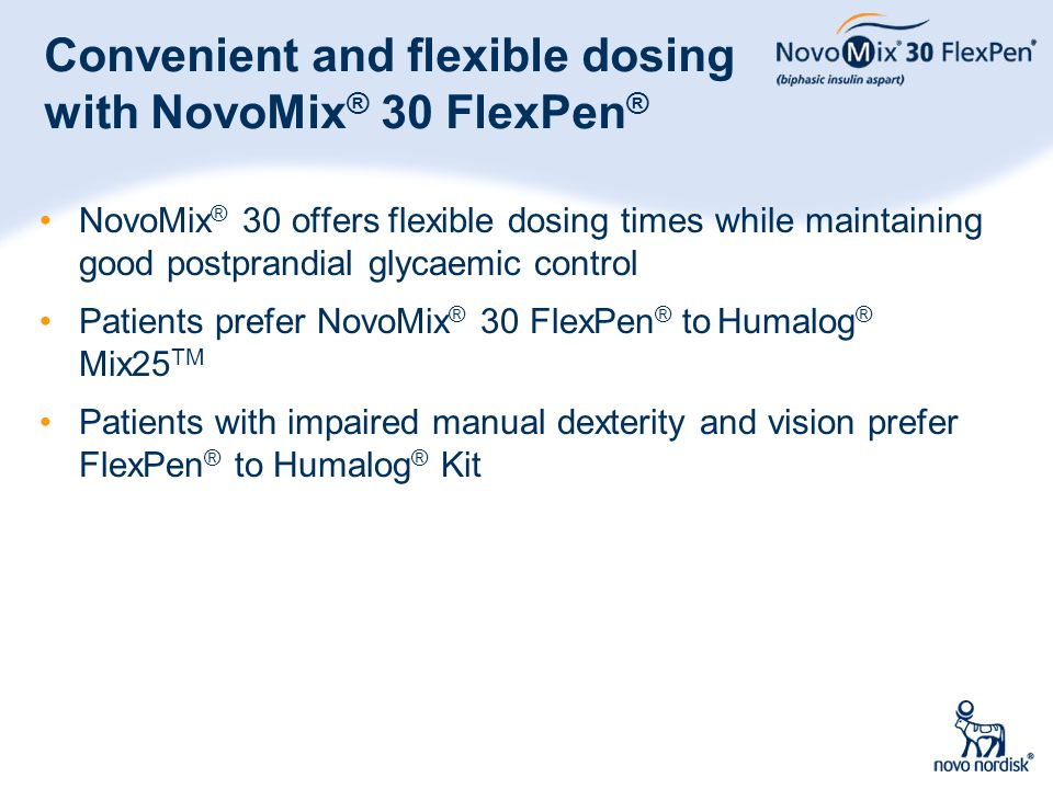 Convenient and flexible dosing with NovoMix® 30 FlexPen®