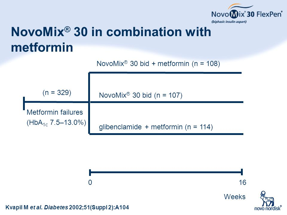 NovoMix® 30 in combination with metformin