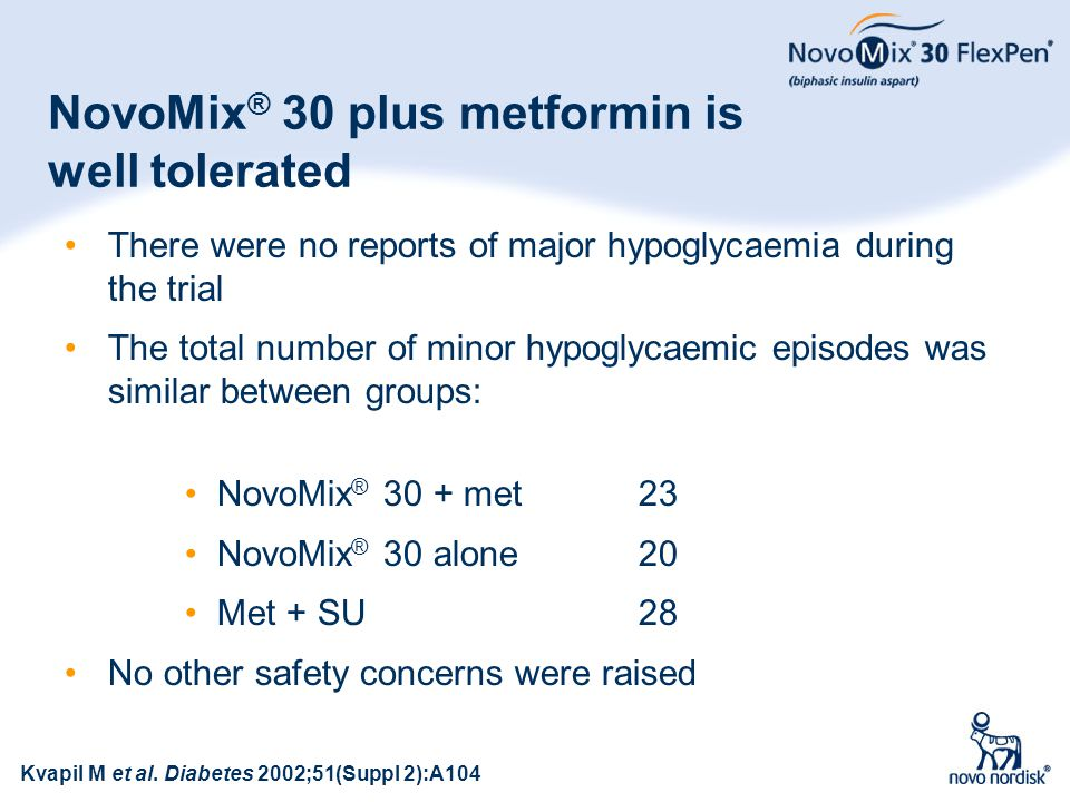 NovoMix® 30 plus metformin is well tolerated
