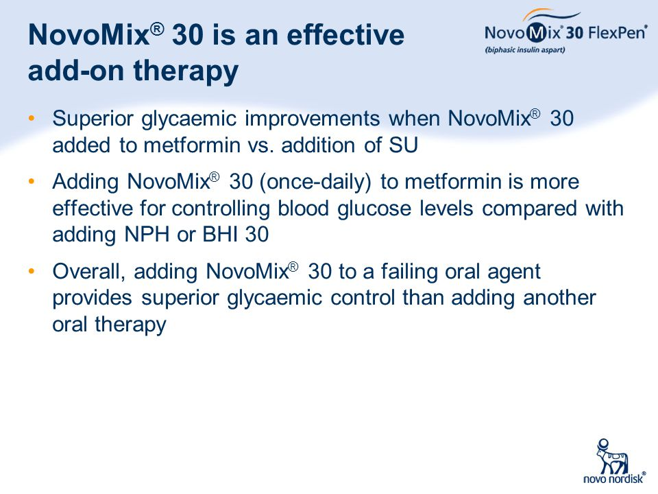 NovoMix® 30 is an effective add-on therapy