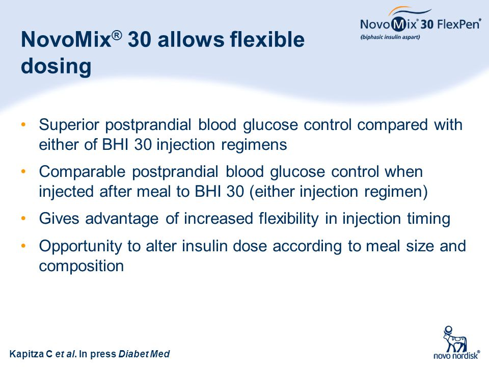 NovoMix® 30 allows flexible dosing
