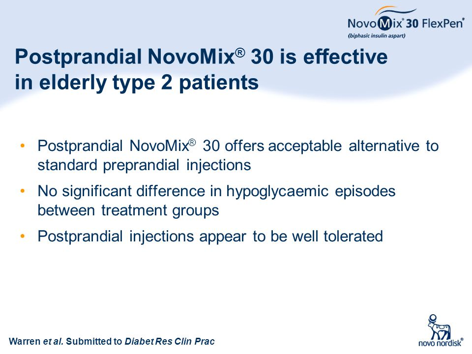 Postprandial NovoMix® 30 is effective in elderly type 2 patients