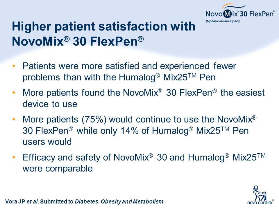 Higher patient satisfaction with NovoMix® 30 FlexPen®