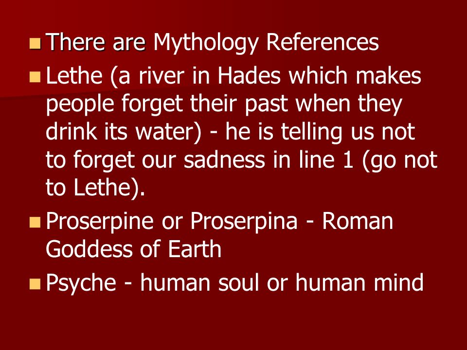 There are Mythology References