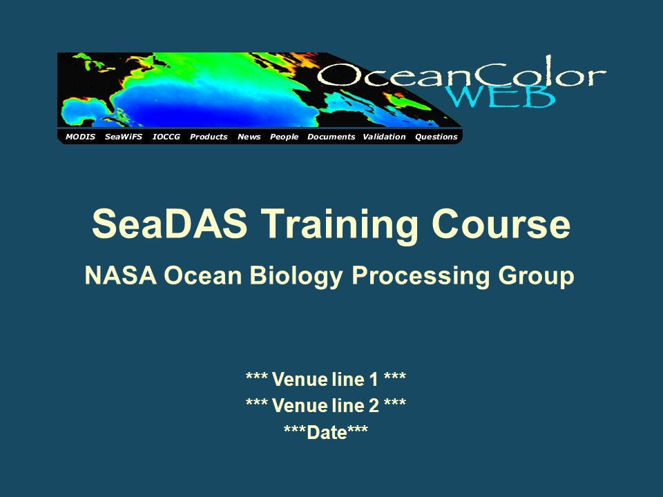 SeaDAS Training Course