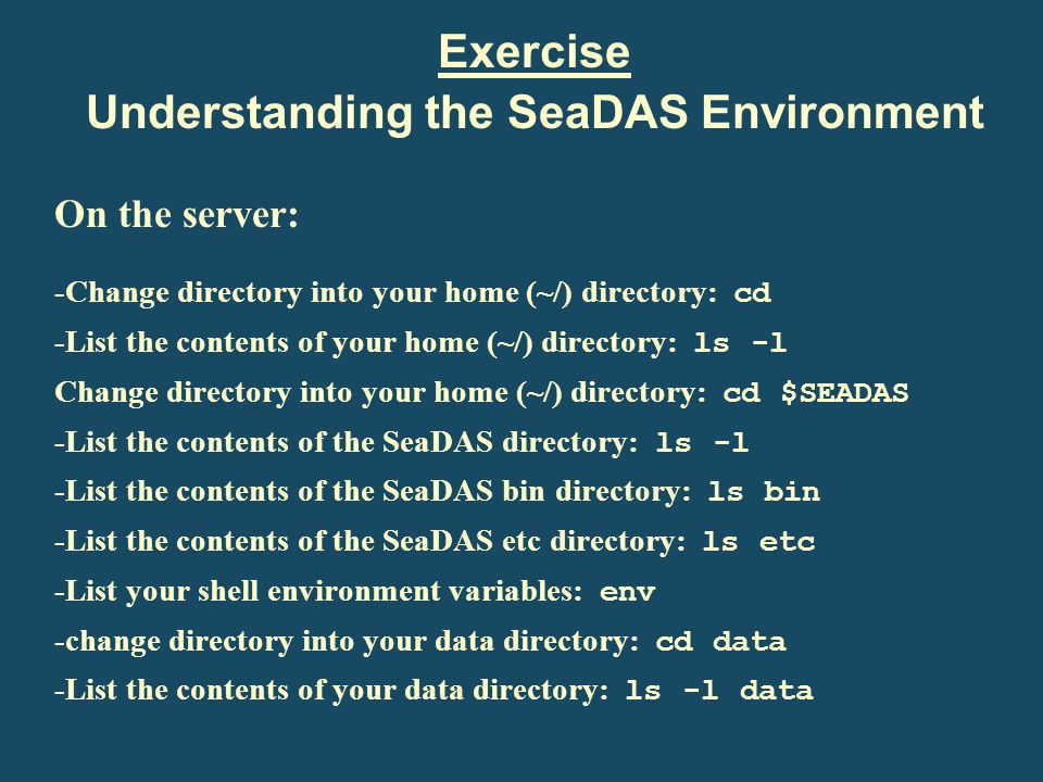Understanding the SeaDAS Environment