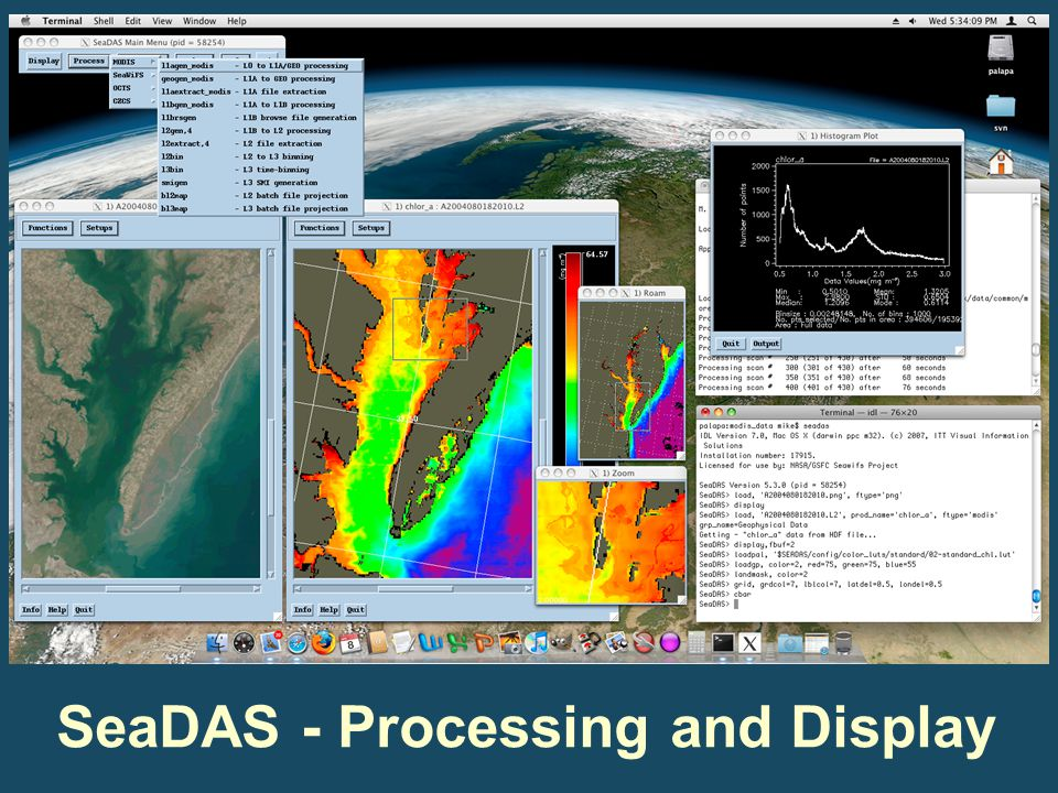 SeaDAS - Processing and Display