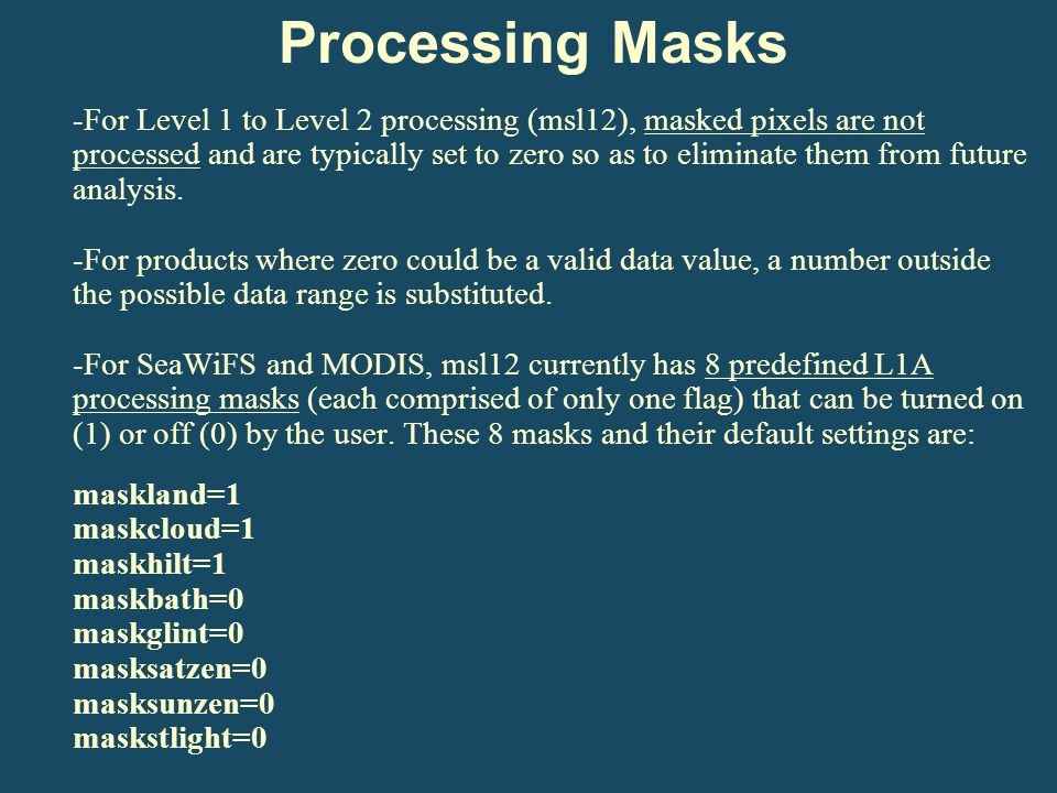 Processing Masks