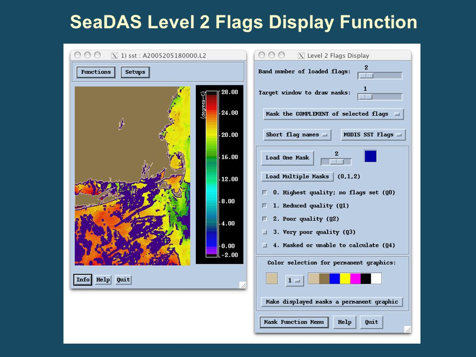SeaDAS Level 2 Flags Display Function