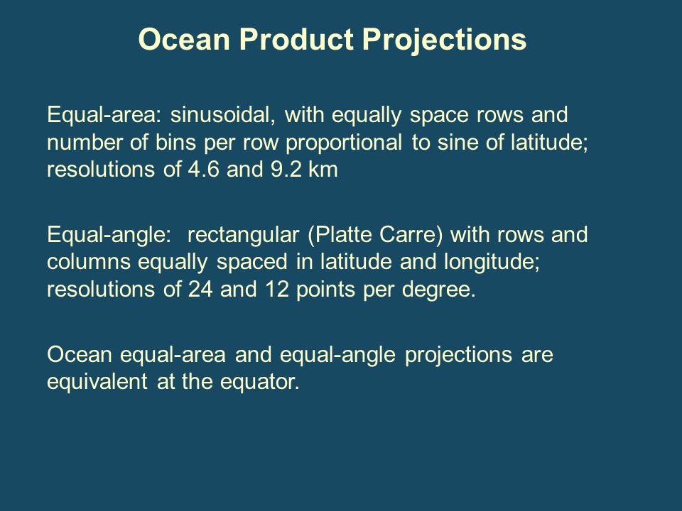 Ocean Product Projections