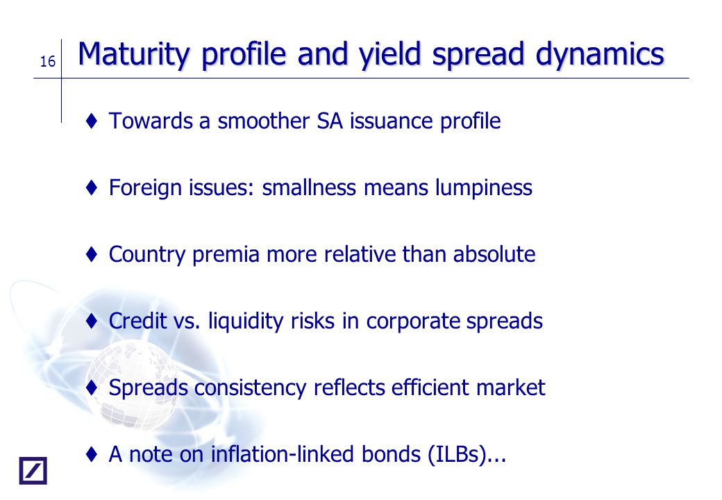 Maturity profile and yield spread dynamics