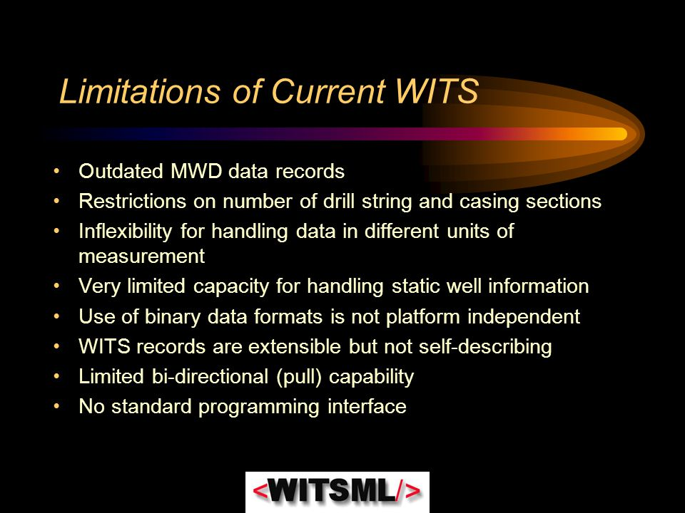 Limitations of Current WITS