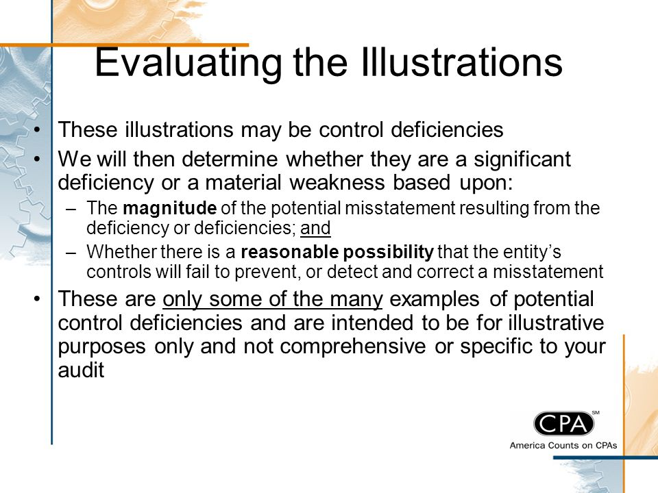 Evaluating the Illustrations