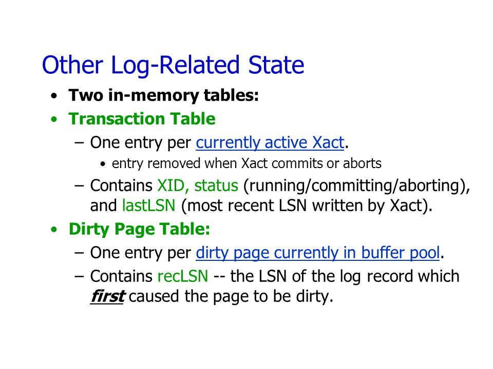 Other Log-Related State